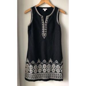 Charter Club Petite Black & White Sleeveless Dress